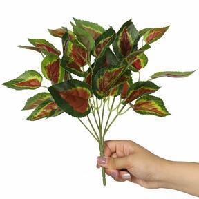 Umelá rastlina Bazalka červená 25 cm