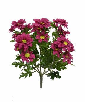 Umelá rastlina Chryzantéma červeno-bordová 35 cm