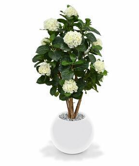 Umelá rastlina Hortenzia krémová 110 cm
