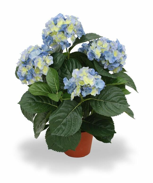 Umelá rastlina Hortenzia modrá 45 cm
