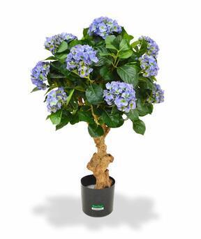 Umelá rastlina Hortenzia modrá 90 cm
