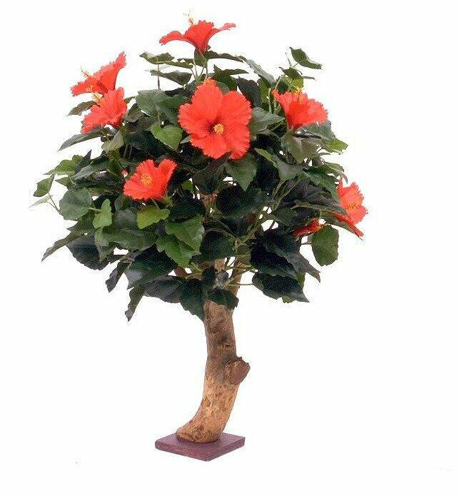 Umelá rastlina Ibištek červený 65 cm