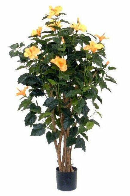 Umelá rastlina Ibištek oranžový 100 cm