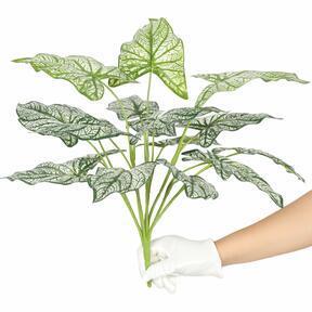 Umelá rastlina Kaládium dvojfarebná 50 cm