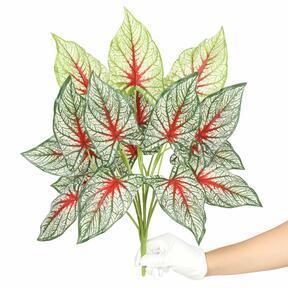 Umelá rastlina Kaládium viacfarebná 50 cm