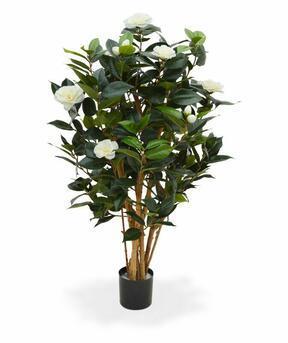 Umelá rastlina Kamélia japonská biela 100 cm