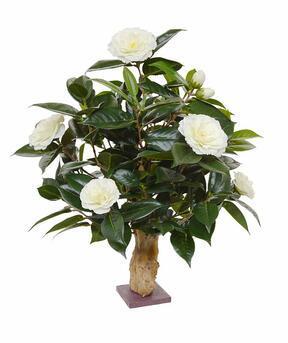 Umelá rastlina Kamélia krémová 65 cm