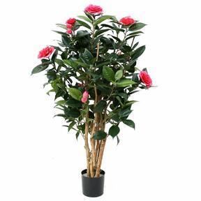 Umelá rastlina Kamélia ružová 100 cm