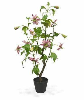 Umelá rastlina Mučenka ružová 90 cm