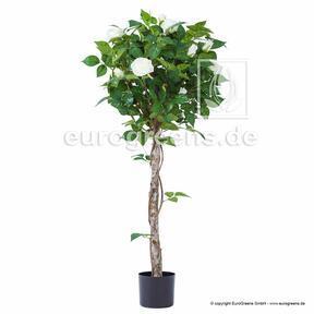 Umelá rastlina Ruža biela 125 cm