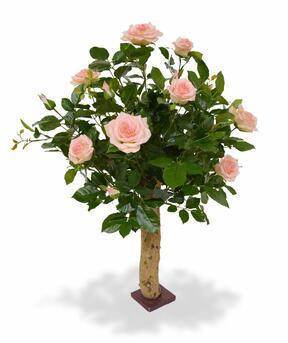 Umelá rastlina Ruža ružová 75 cm