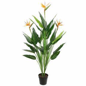 Umelá rastlina Strelícia kvitnúca 150 cm