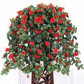 Umelá úponka Ruža červená 70 cm
