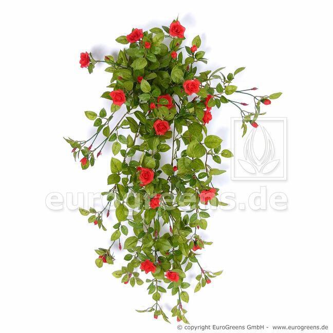 Umelá úponka Ruža červená 85 cm