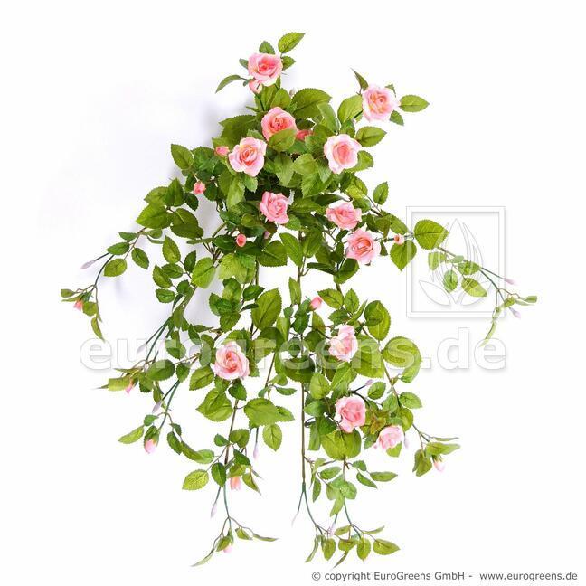 Umelá úponka Ruža lososová 55 cm