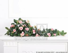 Umelá úponka Ruža ružová 70 cm