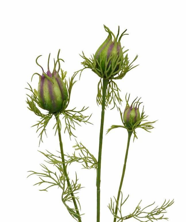 Umelá vetva Černuška zeleno-fialová 55 cm