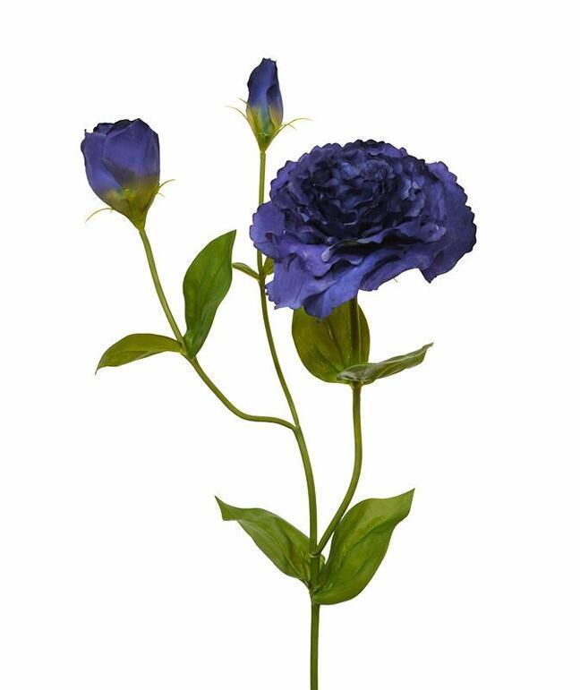 Umelá vetva Eustoma modrá 80 cm