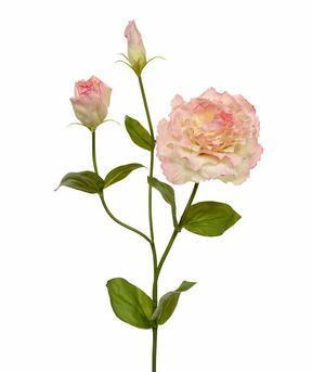 Umelá vetva Eustoma ružová 80 cm