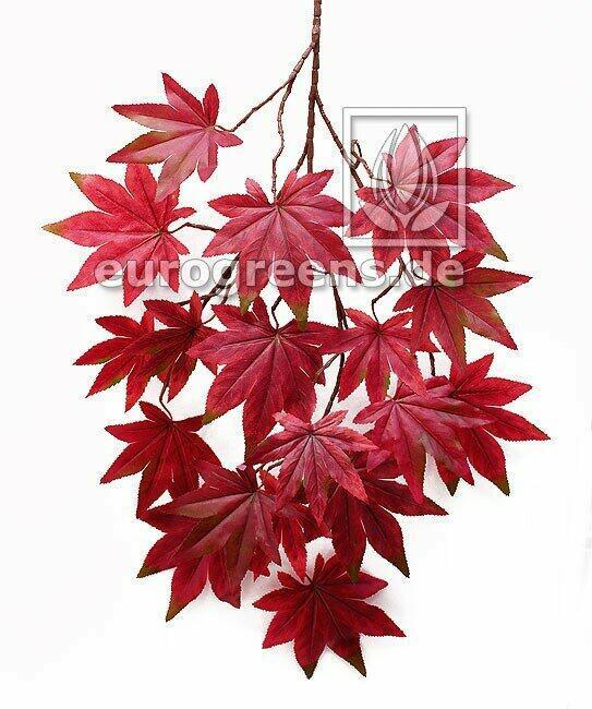 Umelá vetva Javor červenkasto-hnedá 80 cm