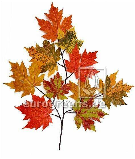 Umelá vetva Javor jesenná 55 cm