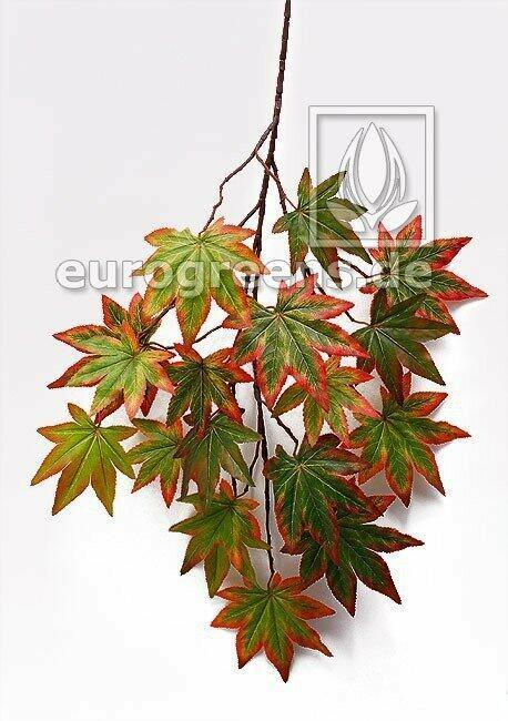 Umelá vetva Javor jesenná zelená 80 cm