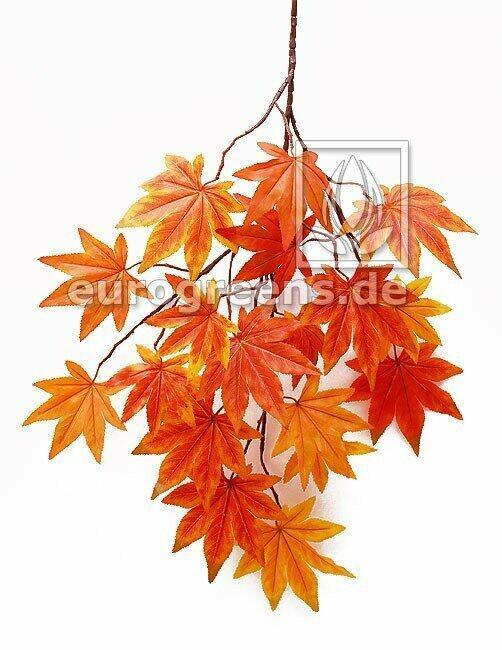 Umelá vetva Javor oranžovo-červená 80 cm