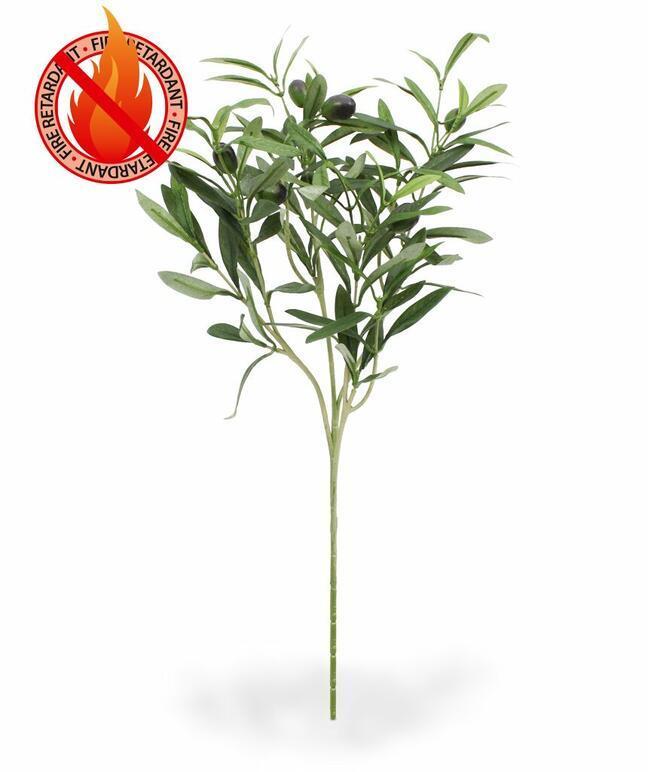 Umelá vetva Olivovník  s olivami 54 cm