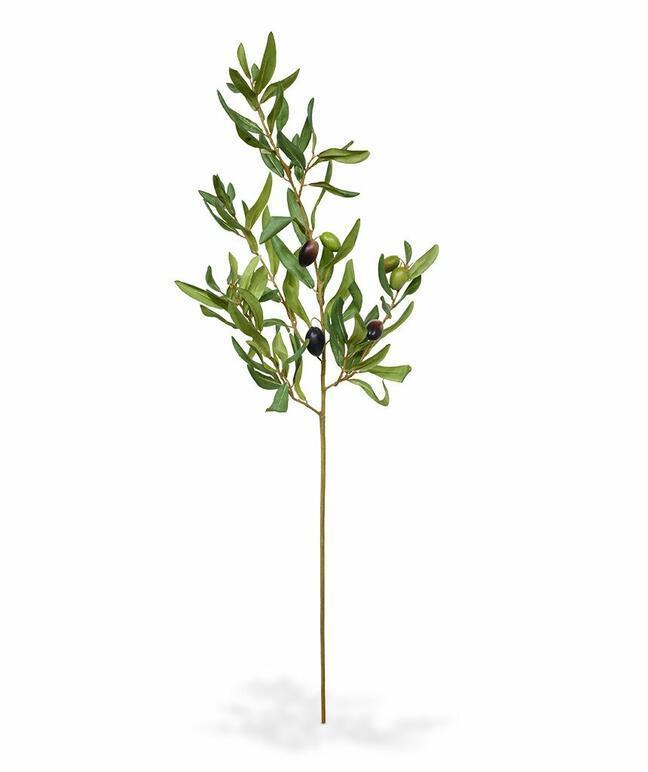 Umelá vetva Olivovník s olivami 85 cm