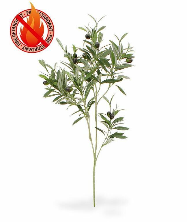 Umelá vetva Olivovník s olivami 90 cm