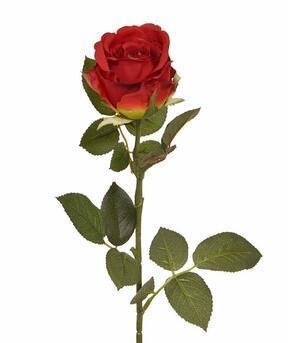 Umelá vetva Ruža červená 74 cm