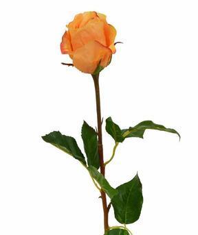 Umelá vetva Ruža oranžová 52 cm
