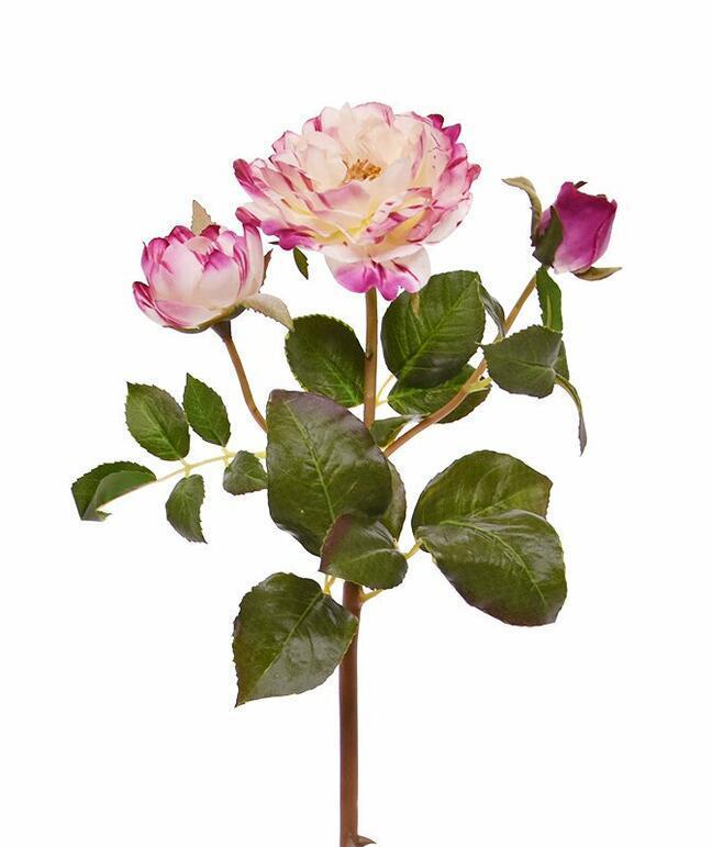 Umelá vetva Ruža ružová 50 cm