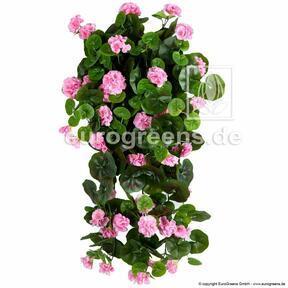 Umelé úponka Pelargónia ružová 70 cm