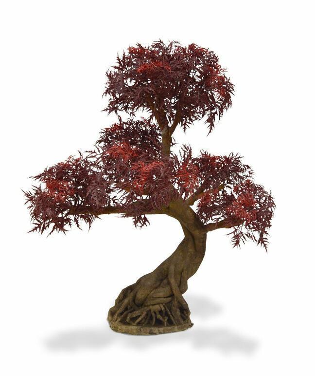Umelý bonsai Polyscias fruticosa burgundy 90 cm