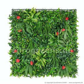 Umelý kvetinový panel - 100x100cm