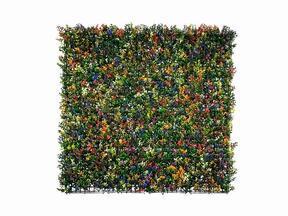 Umelý kvetinový panel Buxus viacfarebný - 50x50 cm