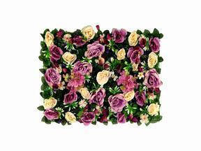 Umelý kvetinový panel Ruža a Hortenzia  - 40x60 cm