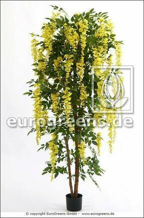Umelý strom Štedrec ovisnutý žltý 180 cm