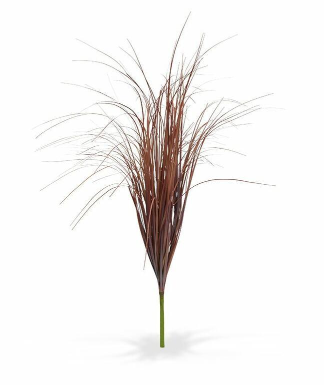 Umelý zapichovací zväzok trávy burgundy 80 cm