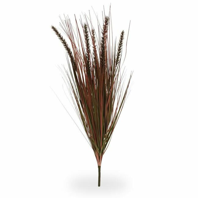 Umelý zapichovací zväzok trávy Perovec burgundy 75 cm