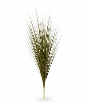 Umelý zeleno-hnedý zapichovací zväzok trávy Ozdobnica čínska 85 cm