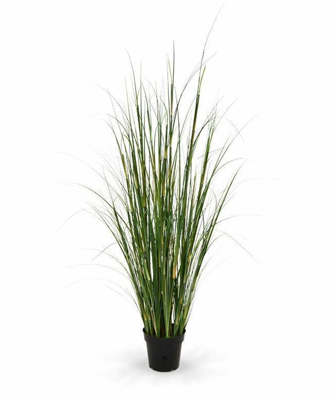 Umelý zväzok trávy Bambus v kvetináči 80 cm