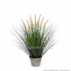 Umelý zväzok trávy Perovec v dekoračnom kvetináči 100 cm