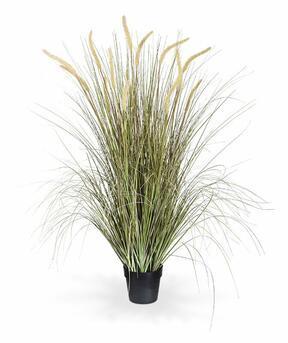Umelý zväzok trávy Perovec v kvetináči 130 cm