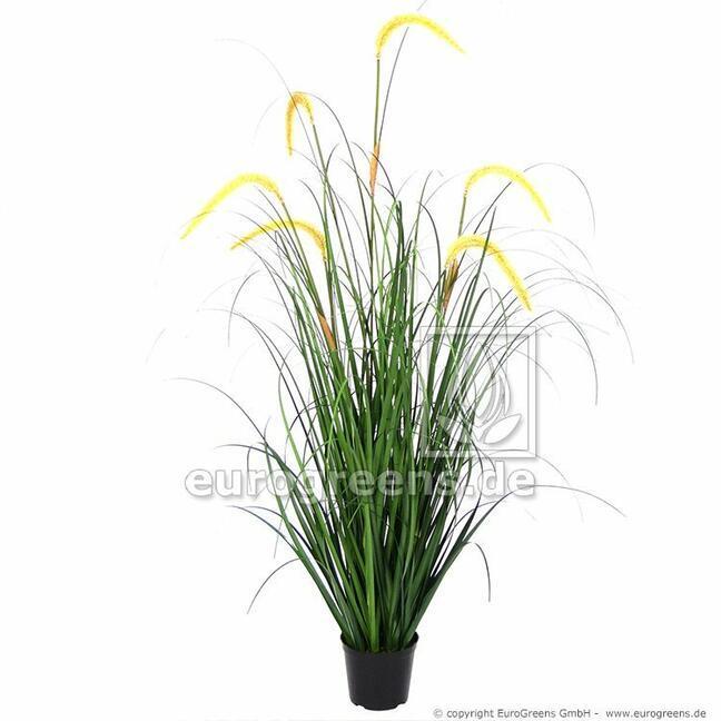 Umelý zväzok trávy Pieskomilka obyčajná v kvetináči 105 cm